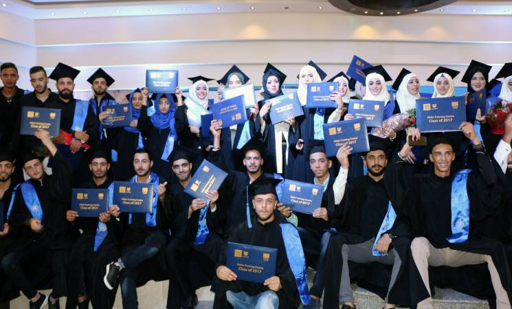 Over 100 Students from the Class of 2017 at the Siblin Training Centre North Campus Graduate with the support of UNRWA and the European Union