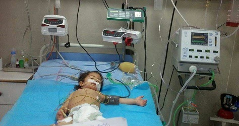 3-year-old Agha at risk of death