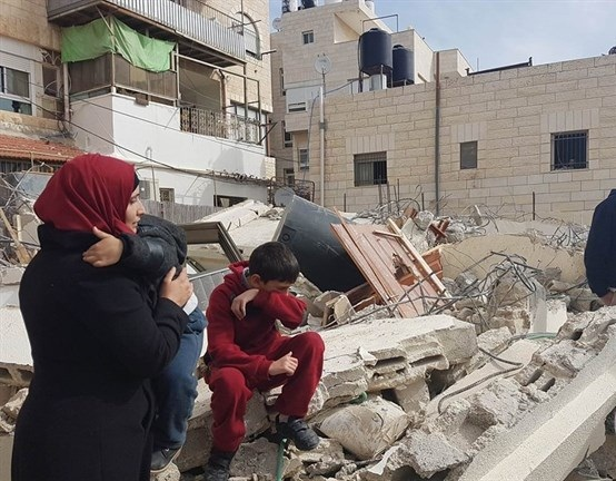 Israeli forces violently raid Palestinian home before razing it to the ground