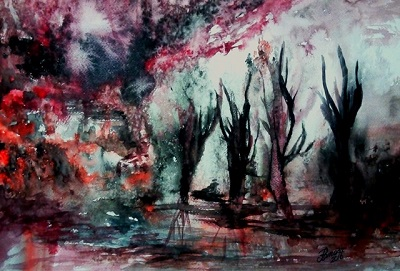 Impressions of Palestinian Memory in Watercolor