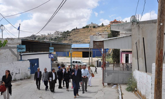 The Advisory Commission of UNRWA visits Khan Al-Ahmar and Palestinian refugee camps in the West Bank