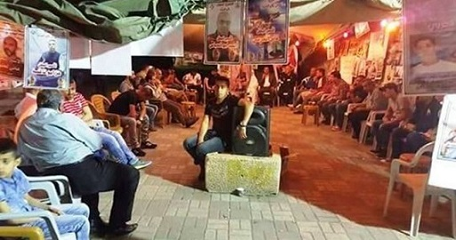 Solidarity event in Jenin in support of hunger-striking prisoners