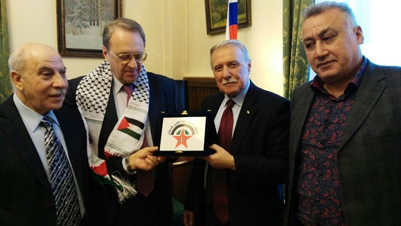 Qais Abdel Karim : We look forward to a Russian and international compressing position on Israel to end its occupation and to stop the settlement