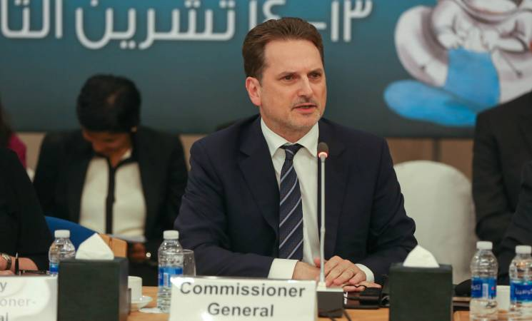 """UNRWA Commissioner-General Pays Tribute to """"Extraordinary Achievements"""", Praises """"Unprecedented Diplomatic Support"""" But Warns of """"Risks to Services"""""""