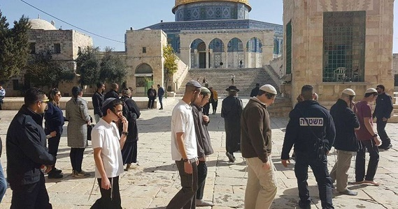 101 Israeli settlers break into 3rd holiest site in Islam