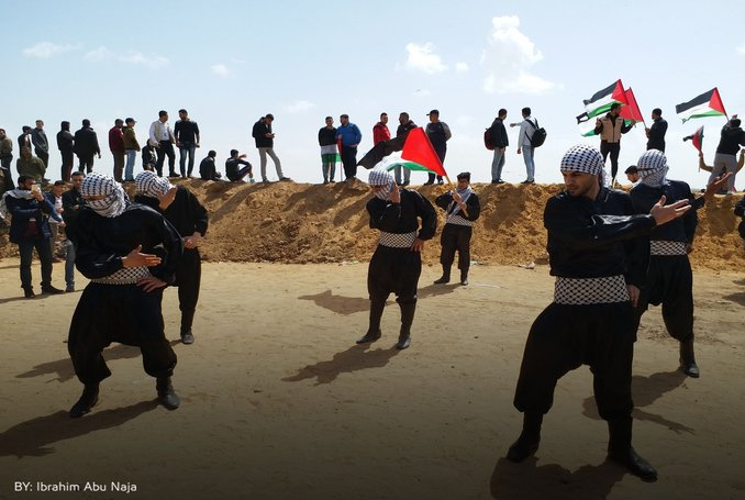 'Great Dance of Return': Palestinians Perform Dabke to the Sound of Bullets