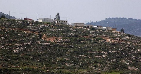 Illegal Israeli settlement outpost supplied with water