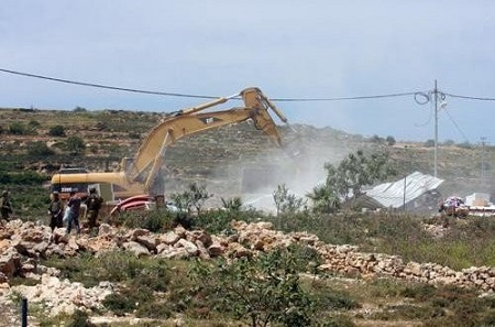 IOF demolish home under construction in Kufr Qasim