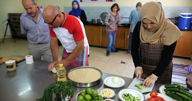 Italian and Palestinian traditional food prepared in Gaza