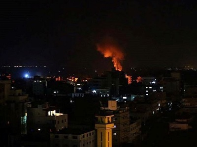 Israeli Army Shells Gaza after Rocket Lands in Open Area in Southern Israel