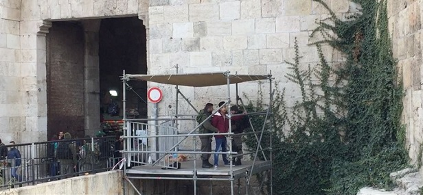 Israeli police set up 4th watchtower at entrance to Al-Aqsa