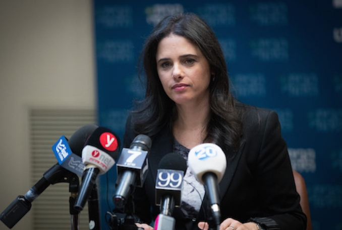 Ayelet Shaked Urges Israel to Use Trump and Annex West Bank
