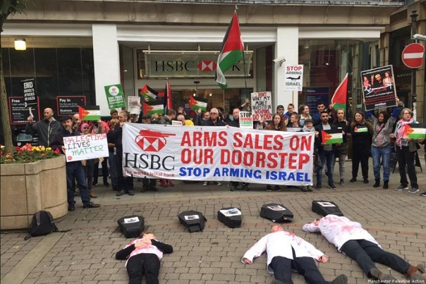 Gorup 194 :: Protests target HSBC over shares in Israel weapons company