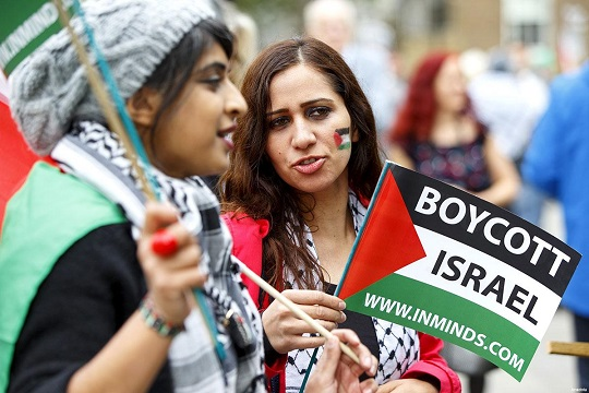 Hundreds show solidarity with Palestine in London