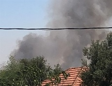Explosive balloon sparks fire in Negev area