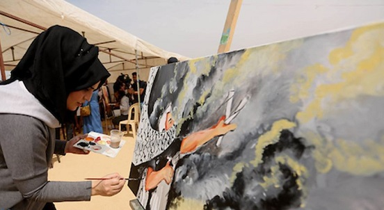Gaza's painters translate pain into art