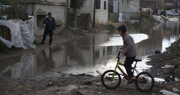 In Nablus refugee camps, life is difficult due to heavy rain