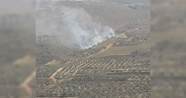 Israeli settlers set fire to Palestinian farmlands in al-Sawiya