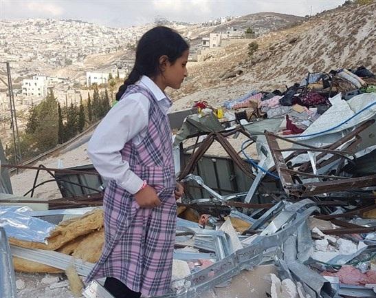 Palestinian family left homeless after East Jerusalem demolition