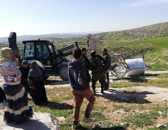 Israeli forces demolish Palestinian homes in South Hebron Hills