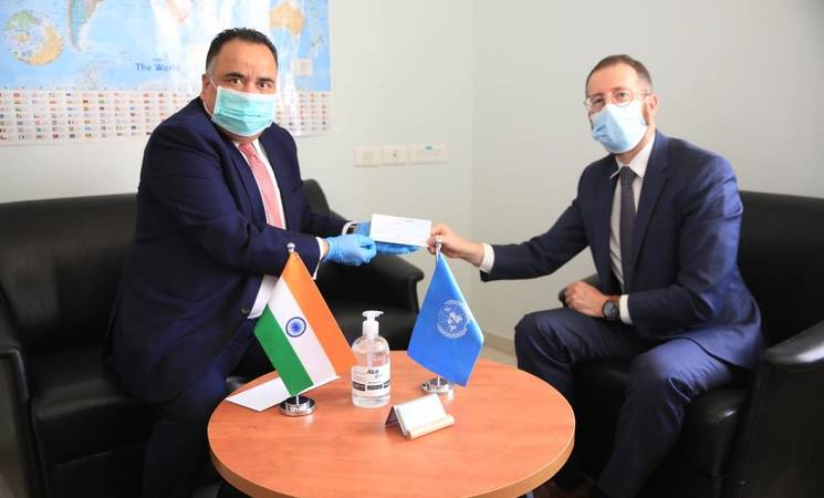India Provides US$ 2 Million to UNRWA for the Welfare of Palestine Refugees