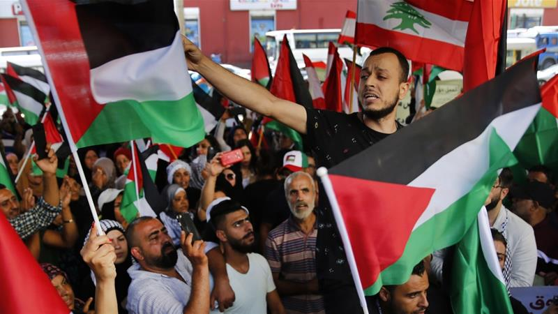 Palestinians in Lebanon protest crackdown on unlicensed workers