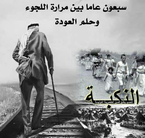 The Nakba's 70th Year