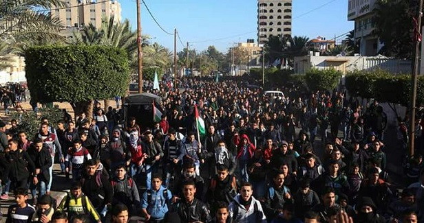 Million-person march to sweep Gaza over Trump's biased declaration