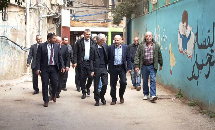 Under-Secretary-General for Humanitarian Affairs Mark Lowcock Visits Palestinian and Syrian Refugees in Lebanon
