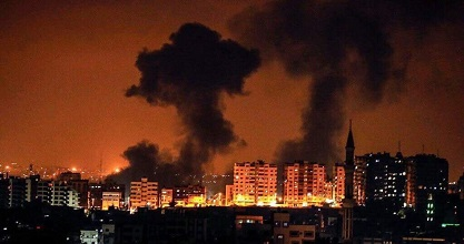 Israeli aerial attacks rock Gaza at dawn