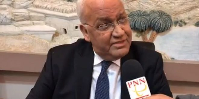 Erekat: Abduction of Jerusalem governor a new step against Palestinian presence in the city
