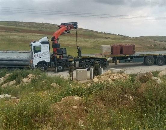 Israel seals off road near South Hebron Hills