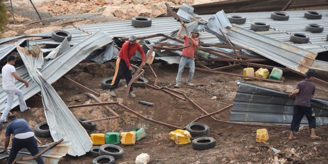 IOF demolish 7 structures in the Northern Valley