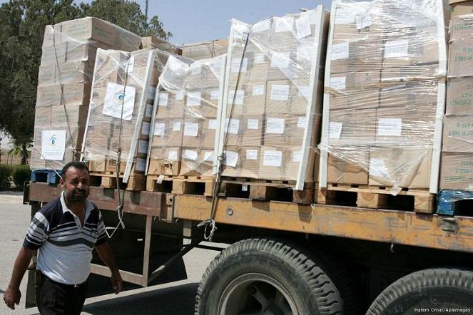 Jordan aid convoy enters Gaza