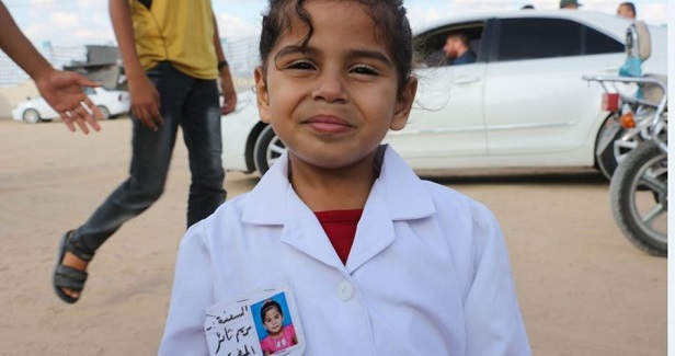 The youngest medic at the Great March of Return