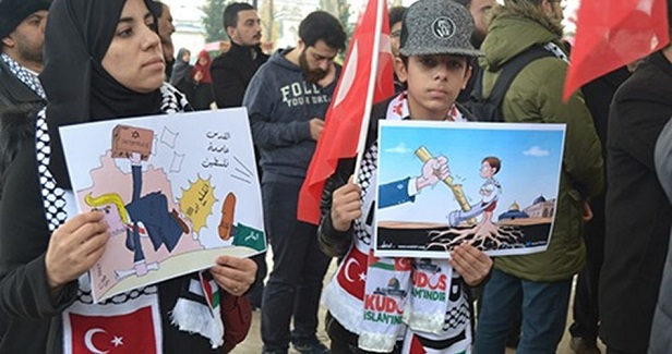 FIDDER organizes protest in solidarity with Jerusalem in Istanbul