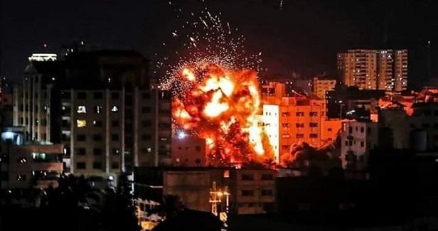Israeli airstrikes target resistance post in western Gaza