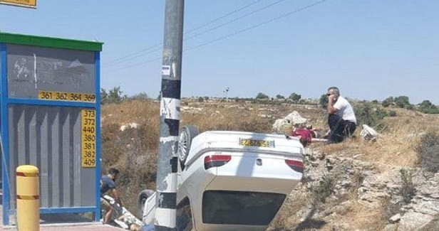 Two settlers injured in alleged car-ramming attack in W. Bank