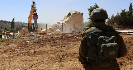 IOF razes home in W. Bank village of Beit Sakariya