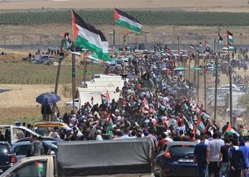 47 Palestinians injured during 71st Nakba Day protests in Gaza