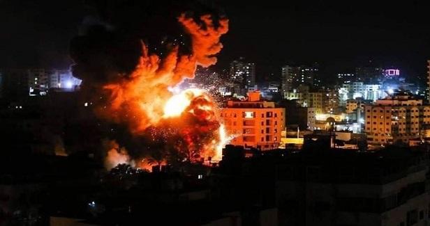 Israeli warplanes bomb sites in Gaza