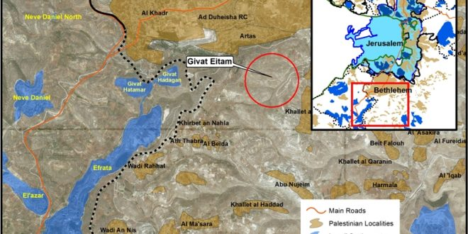 Report: New Settlement Plan Named (EII) to Besiege Bethlehem