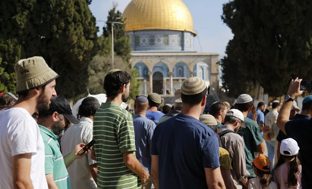 Dozens of Israel settlers storm Al-Aqsa as site reopens