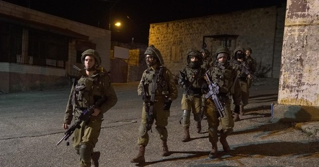 Israeli forces detain 13 Palestinians in West Bank