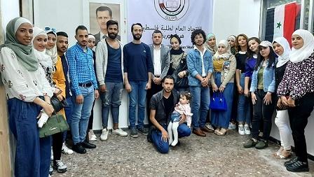 ( أشد ) يقدم التهاني لفرع سوريا للإتحاد العام لطلبة فلسطين بحلول عيد الفطر السعيد