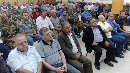 وفد من الجبهة الديمقراطية يشارك في مجلس عزار الرفيق أبو الأمين صبري
