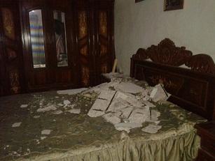 انهيار سقف منزل في