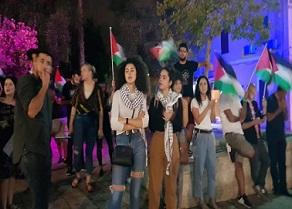 وقفة تضامن مع الأسيرين الفلسطينيين سامر العربيد وهبة اللبدي في حيفا