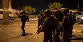 اصابة ثلاث من جنود الاحتلال خلال مواجهات بقلنديا فجر اليوم