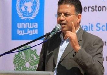 أبوحسنة .. شطب كلمة اللاجئين عن يافطات مدارس الأونروا بغزة خطأ فني